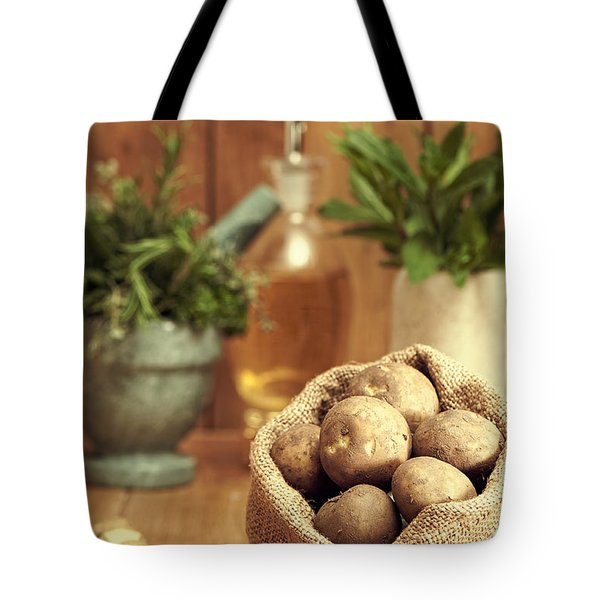 Potatoes Tote Bag by Amanda Elwell