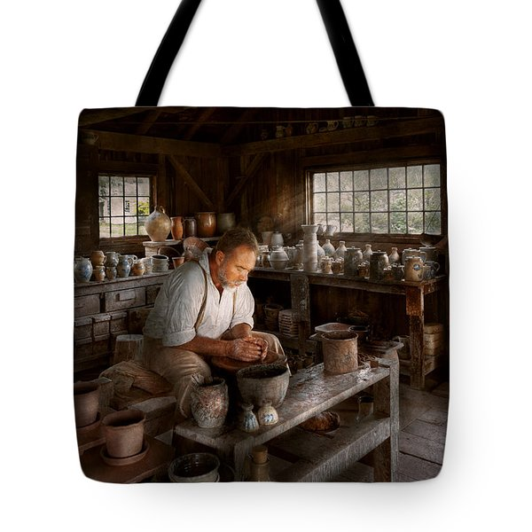 Potter - Raised in the clay Tote Bag by Mike Savad