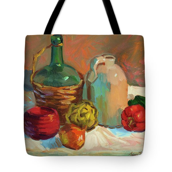 Pottery And Vegetables Tote Bag by Diane McClary