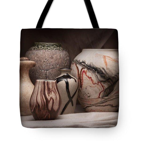 Pottery Still Life Tote Bag by Tom Mc Nemar
