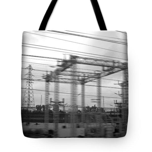 Power lines Tote Bag by Tony Cordoza