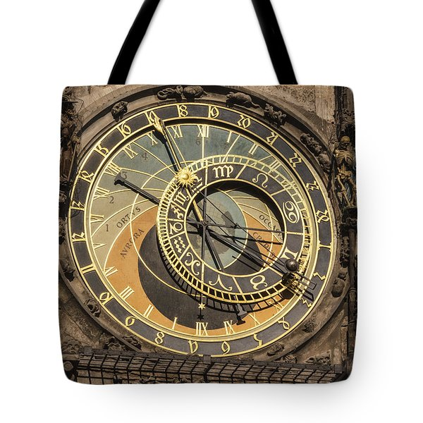 Prague Astronomical Clock Tote Bag by Joan Carroll