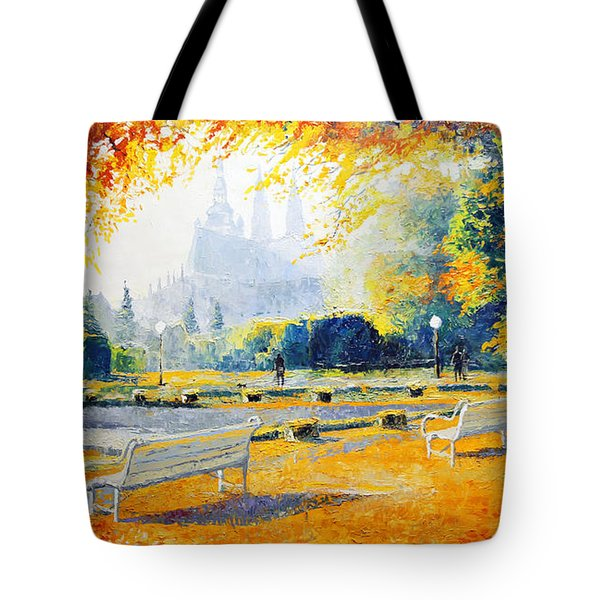 Prague Autumn in the Kralovska Zahrada Tote Bag by Yuriy Shevchuk