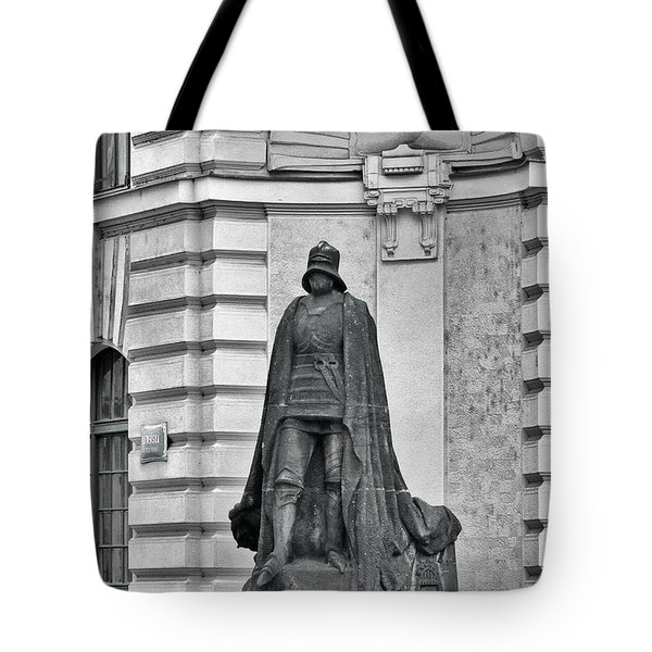 Prague - The Iron Man From A Long Time Ago And A Country Far Far Away Tote Bag by Christine Till
