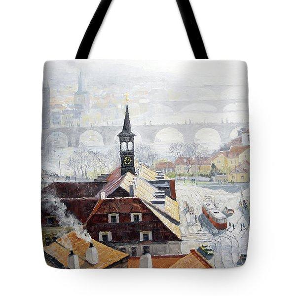 Praha Early Spring  Tote Bag by Yuriy Shevchuk