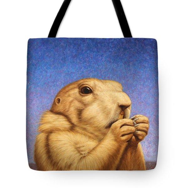 Prairie Dog Tote Bag by James W Johnson