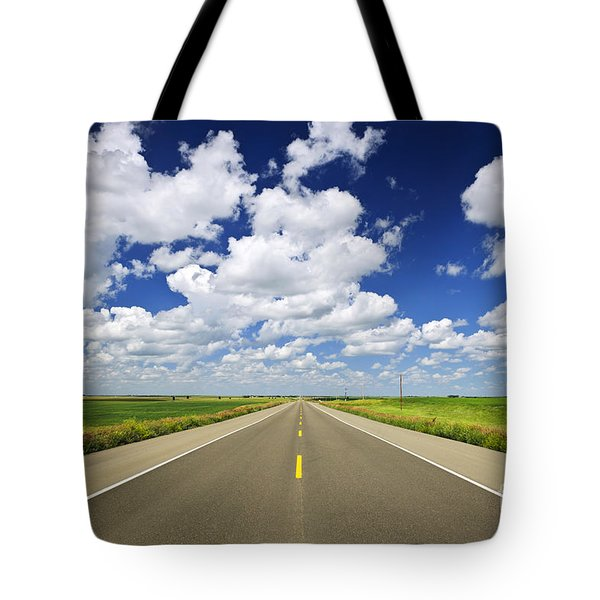 Prairie highway Tote Bag by Elena Elisseeva