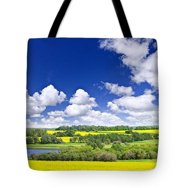 Prairie Panorama In Saskatchewan Tote Bag by Elena Elisseeva