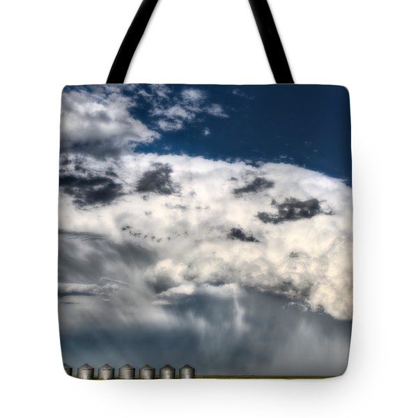 Prairie Storm Clouds Tote Bag by Mark Duffy