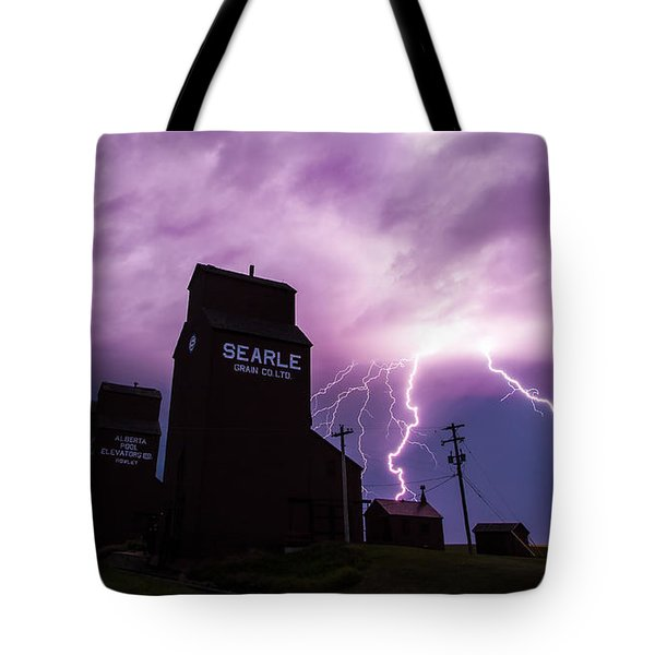Prairie Tempest Tote Bag by Ian MacDonald