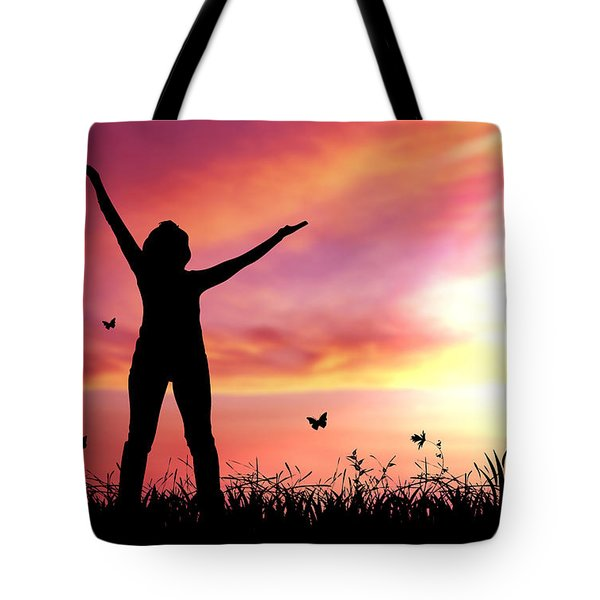 Praise The Lord Tote Bag by Aged Pixel