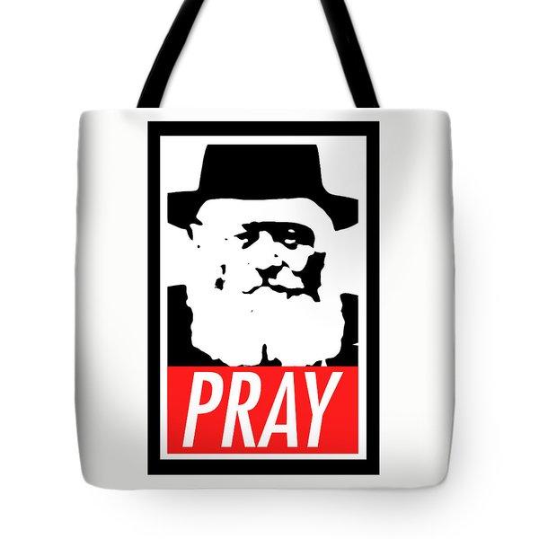 Pray Tote Bag by Anshie Kagan