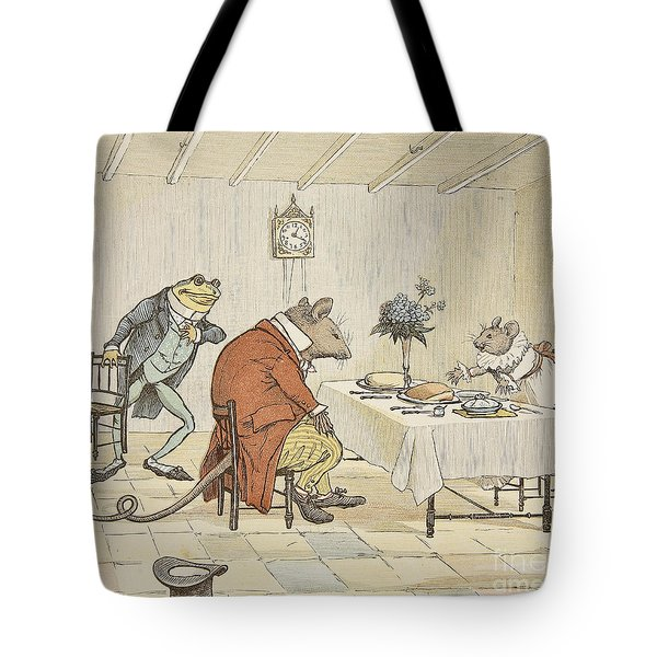 Pray Miss Mouse Will You Give Us Some Beer Tote Bag by Randolph Caldecott