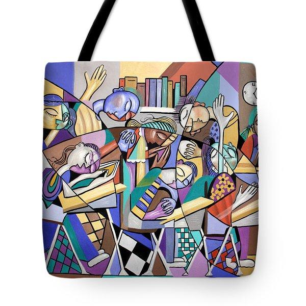 Prayer In School Tote Bag by Anthony Falbo