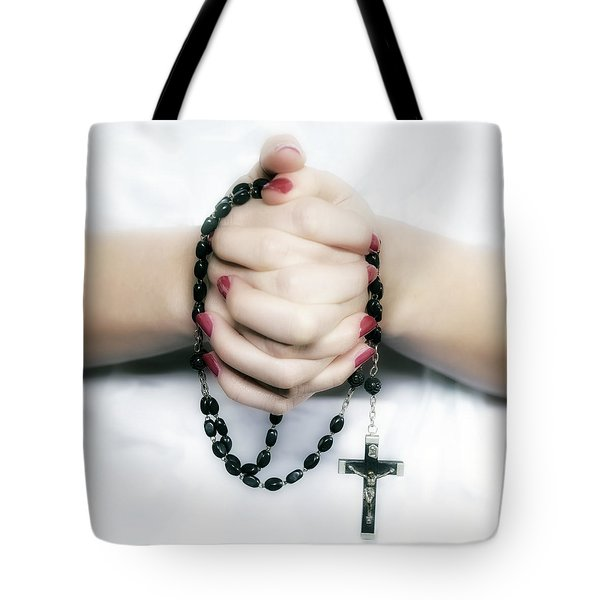 Praying Hands Tote Bag by Joana Kruse