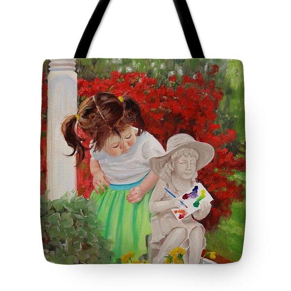 Precious Memories Two Tote Bag by Laura Lee Zanghetti