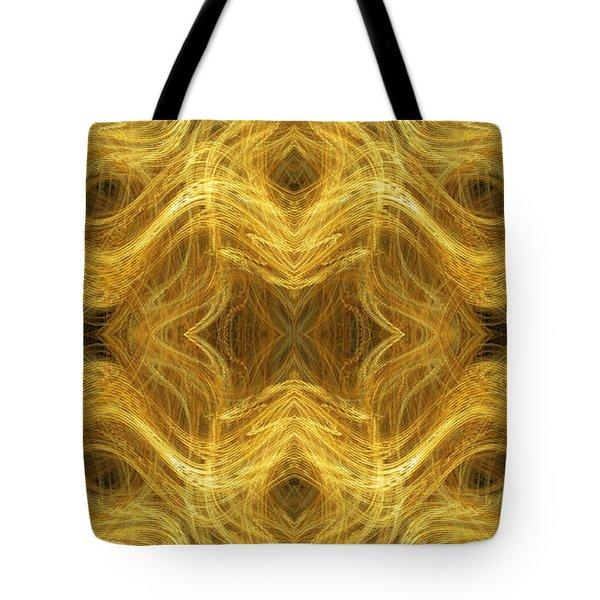 Precious Metal 3 Ocean Waves Panorama Tote Bag by Andee Design