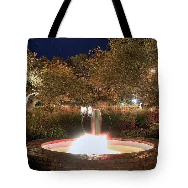 Prescott Park Fountain Tote Bag by Joann Vitali