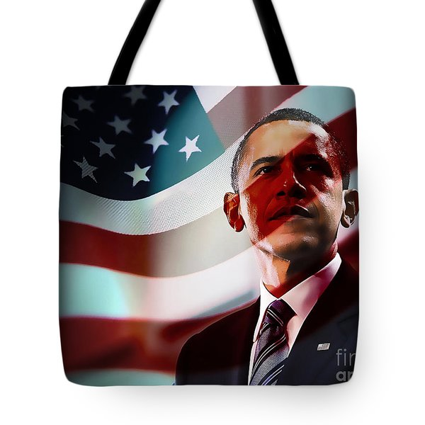 President Barack Obama Tote Bag by Marvin Blaine