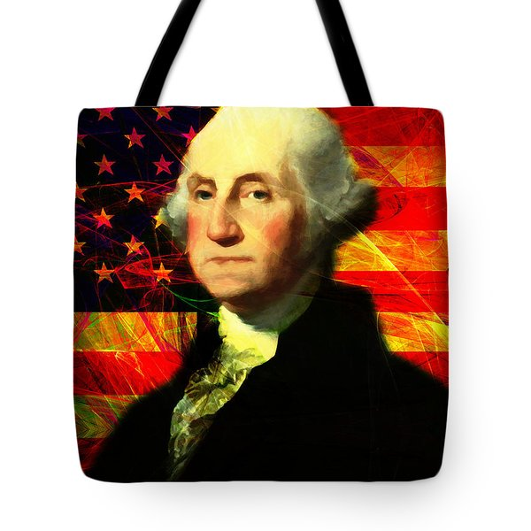 President George Washington V2 M20 Tote Bag by Wingsdomain Art and Photography