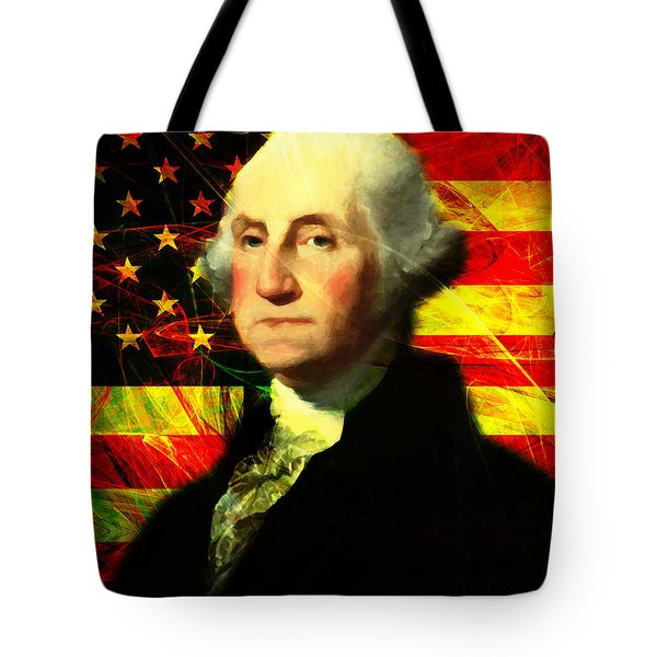 President George Washington V2 Tote Bag by Wingsdomain Art and Photography