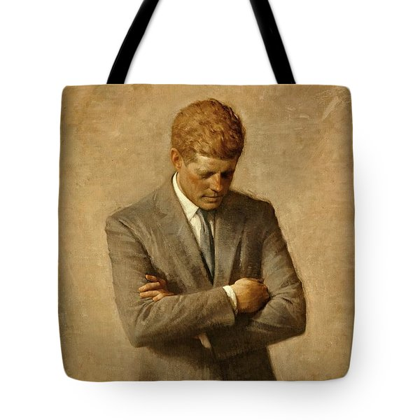 President John F. Kennedy Official Portrait by Aaron Shikler Tote Bag by Movie Poster Prints