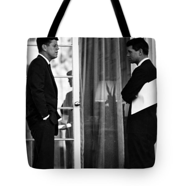 President John Kennedy And Robert Kennedy Tote Bag by War Is Hell Store
