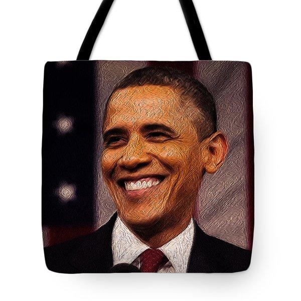 President Obama Tote Bag by Mim White