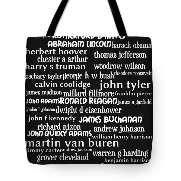 Presidents of The United States 20130625bw Tote Bag by Wingsdomain Art and Photography