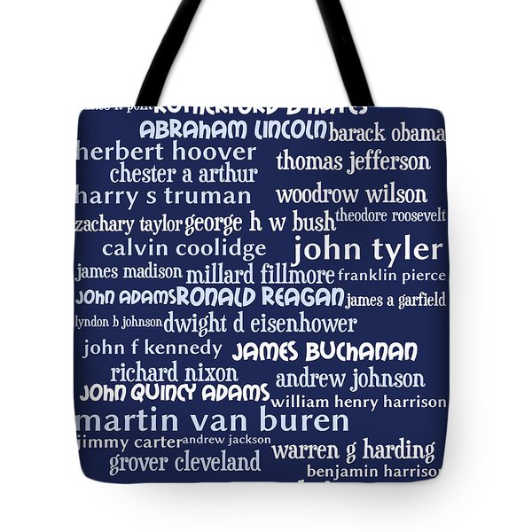 Presidents of The United States 20130625bwco80 Tote Bag by Wingsdomain Art and Photography