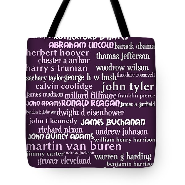 Presidents of The United States 20130625bwmag Tote Bag by Wingsdomain Art and Photography