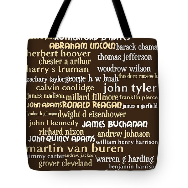 Presidents of The United States 20130625bwwa85 Tote Bag by Wingsdomain Art and Photography