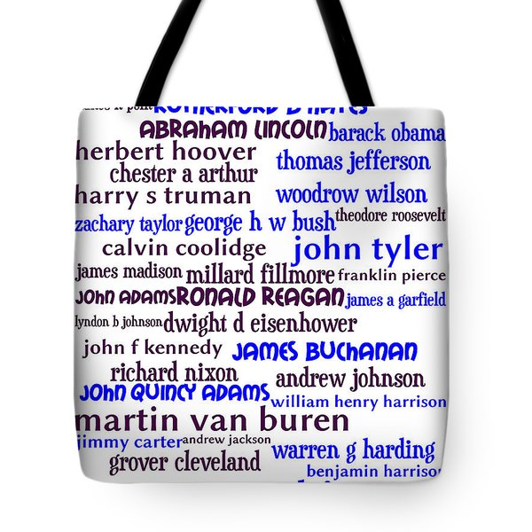 Presidents of The United States 20130625whi Tote Bag by Wingsdomain Art and Photography