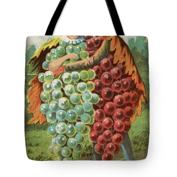 Pressed Grapes Tote Bag by Aged Pixel