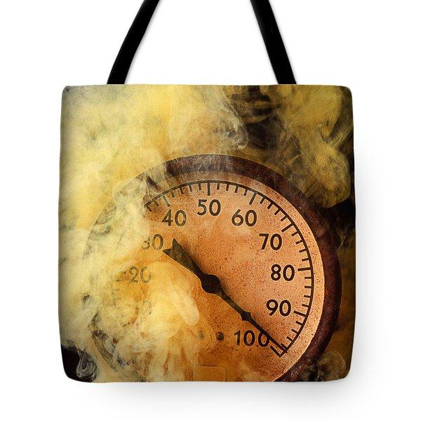 Pressure Gauge With Smoke Tote Bag by Garry Gay