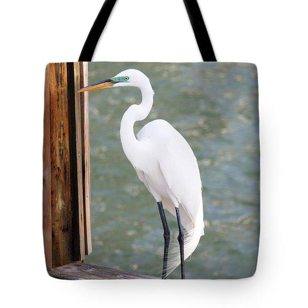 Pretty Great Egret Tote Bag by Carol Groenen