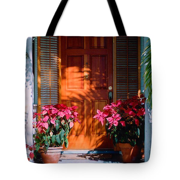 Pretty House Door in Key West Tote Bag by Susanne Van Hulst