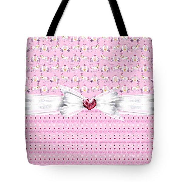 Pretty Pink Princess Tote Bag by Debra  Miller