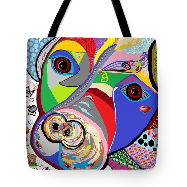 Pretty Pitty Tote Bag by Eloise Schneider