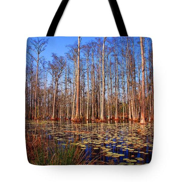 Pretty Swamp Scene Tote Bag by Susanne Van Hulst