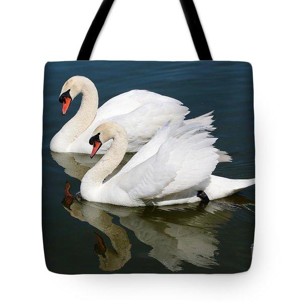 Pretty Swan Pair Tote Bag by Carol Groenen