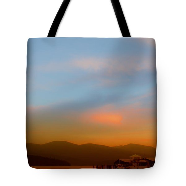 Priest Lake at Dusk Tote Bag by David Patterson