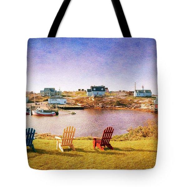 Primary Chairs - Digital Art Tote Bag by Renee Sullivan