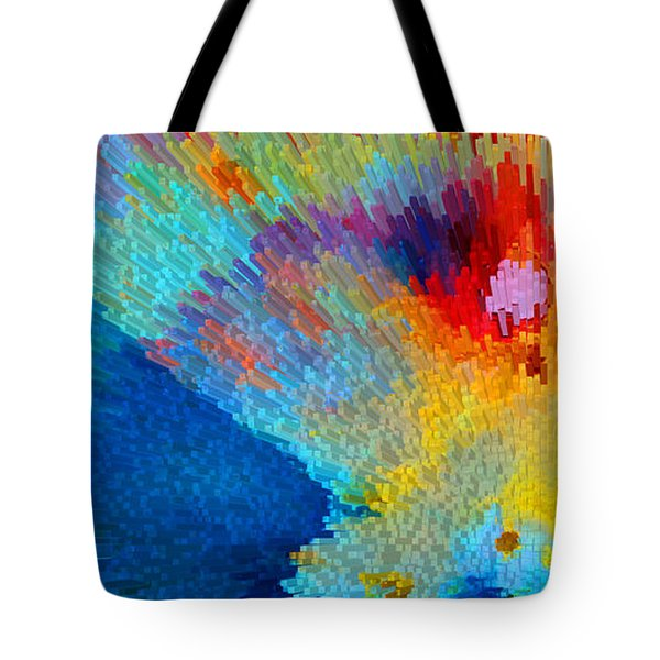 Primary Joy - Abstract Art By Sharon Cummings Tote Bag by Sharon Cummings