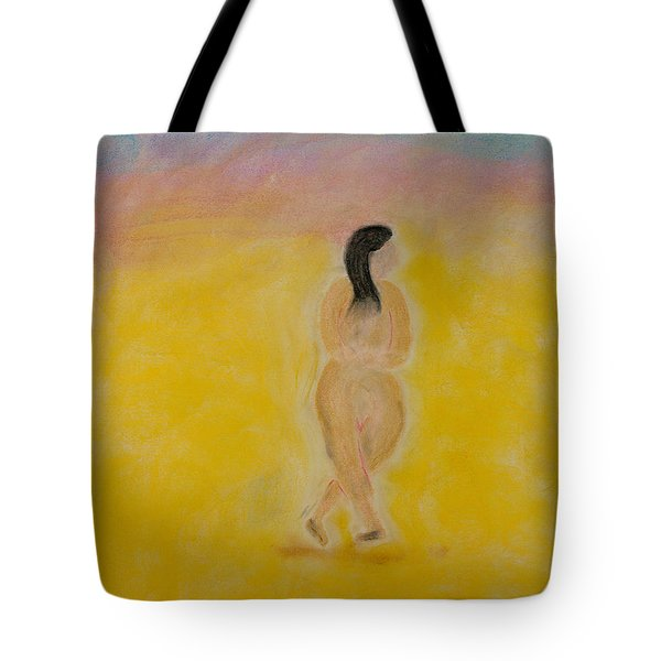 Primitive Woman Walking Tote Bag by Robyn Louisell