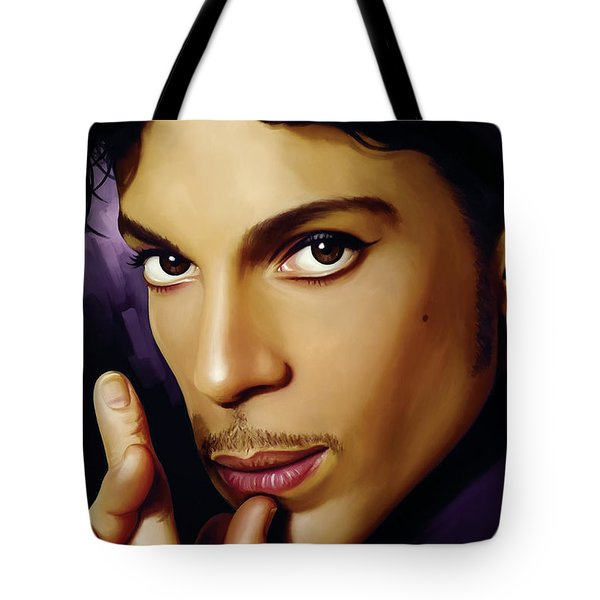 Prince Artwork Tote Bag by Sheraz A