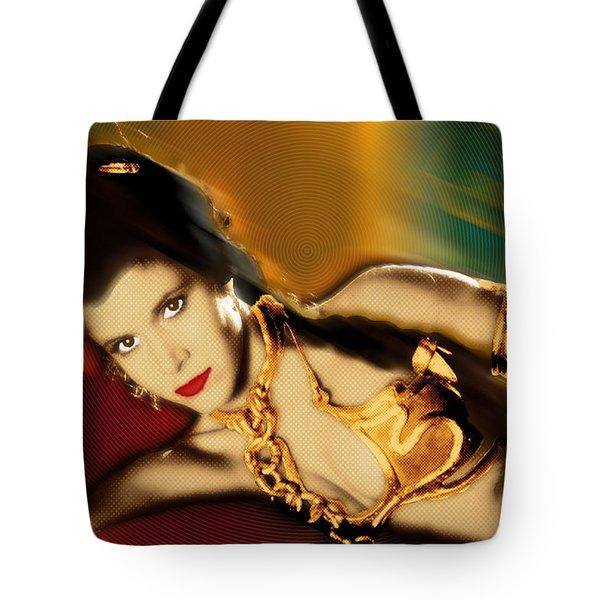 Princess Leia Star Wars Episode VI Return of the Jedi 1 Tote Bag by Tony Rubino