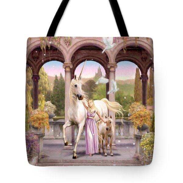 Princess Of The Unicorns Variant 1 Tote Bag by Garry Walton