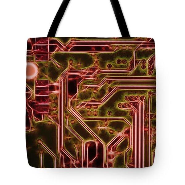 printed circuit - motherboard Tote Bag by Michal Boubin