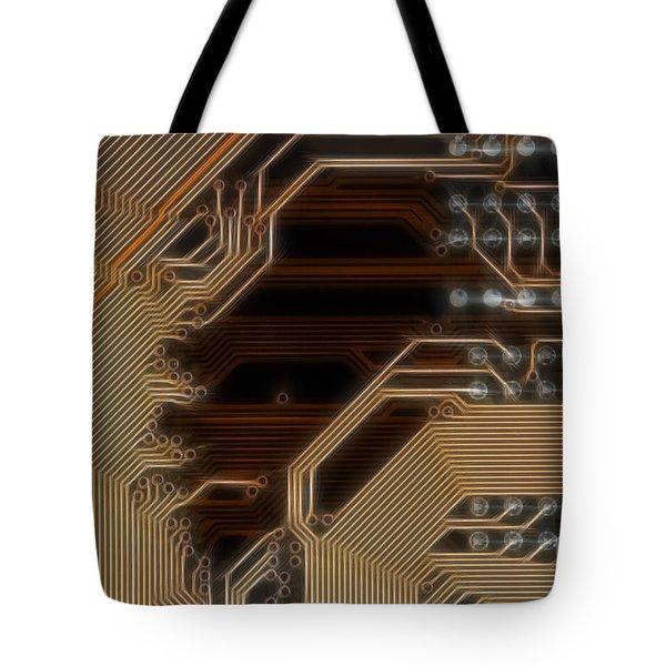 printed curcuit Tote Bag by Michal Boubin